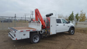 New Dodge 5500 Fassi crane package