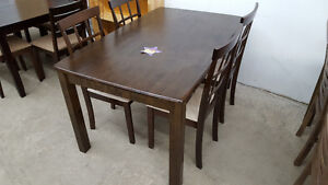 Dining table set with 4 chairs - Delivery Available