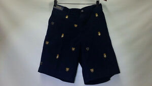 RALPH LAUREN MEN SHORTS SIZE 35 CREST EMBROIDERED