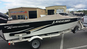 16 ft Legend Xterminator with 60hp Mercury 4 stroke and trailer