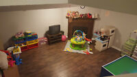 Kanata/Stittsville Daycare - Space Available (flexible hours)