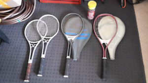 Tennis and Sqash Rackets, and Tennis Balls