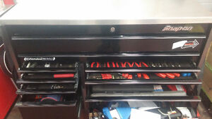 Snap on tool box and stainless steel top