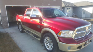 2013 Ram 1500 Two tone red Pickup Truck Longhorn