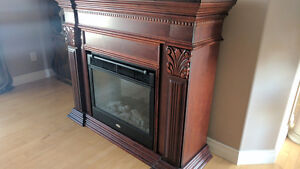 Electric fireplace, 4-post bedroom set, wall unit and more