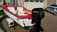 18 Foot Bowrider 50 HP AMAZING CONDITION FIBER GLASS BOAT