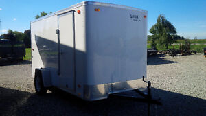 New 6 by 12 White Look Enclosed Trailer