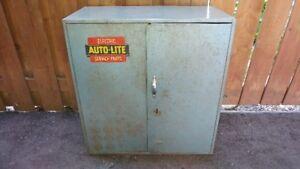 Vintage Automotive Shop Cabinet Circa 1960's