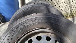 4 pneus d'été Goodyear sur roue