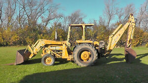 Massey 3165 Tractor w/ Loader and 222 Backhoe Attachment