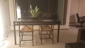 Beautiful Glass table for 4 for sale!