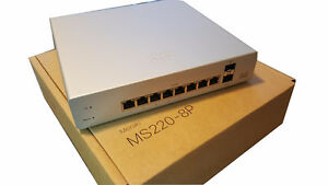 Meraki CLOUD MANAGED MS220-8P / 8 Port Gigabit PoE Switch