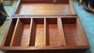 Antique solid wood box , 20 inches long