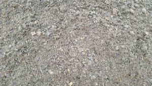 Composted manure/ top soil drain rock