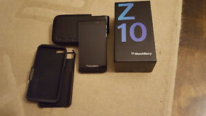 Blackberry Z10 with BB leather case and hard cover Windsor Region Ontario image 1
