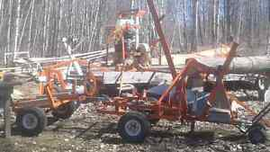 Portable lumber mill and tool package