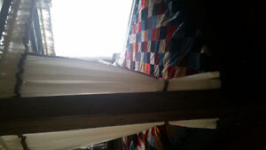 """solid 2"""" Oak water bed.Has a mattress in it now. 4 poster with m"""