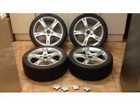 "Lexus is200 17"" x4 alloy wheel set good tyres recently painted 114.3 98-05 breaking is 200 is300 Px"
