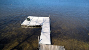 32 ft anodized aluminum dock (includes 16'x16' sitting area)