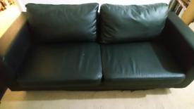 Sofa faux leather black