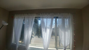 Sheer Curtain Panels & Curtains Rods