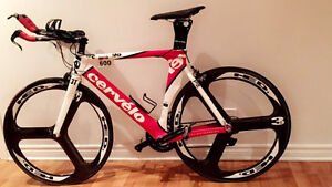 Cervélo P2 with HED 3 wheels, LOW Miles