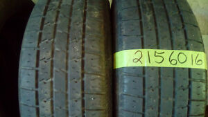 Pairs of R16 all season car and truck tires.