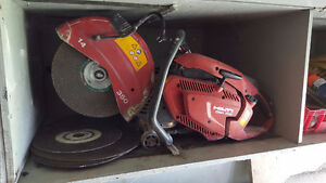 Hilti, Bosch, and Milwaukee power tools