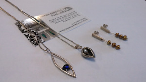 Sterling Silver jewelry pieces - made by Montreal artist