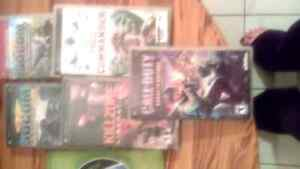 Psp games and one Xbox game