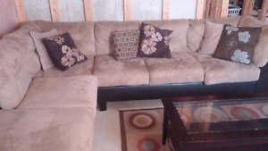 Microsuade Sectional Couch - 500 OBO