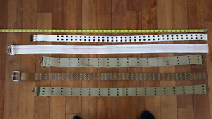 Ladies canvas belts