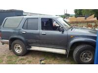 1992 4x4 toyota hi lux surf good old work horse export spares or repair only