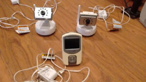 Baby Video Monitor with 2 cameras  for 2 room coverage