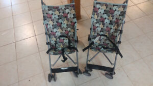 Two single baby stroller