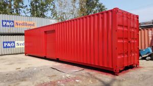 40' Containers and 40' Insulated Freezer, Bridge, Modified