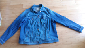 Manteau jeans taille plus 1x Old navy