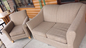 Single Hide-a-bed with matching chair and recliner