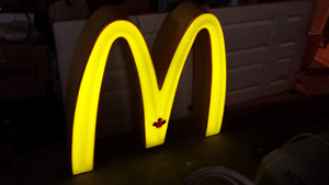 The Golden arches neon sign