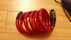 Wire combination bike lockk