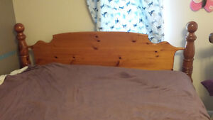King size bed with box springs and matress