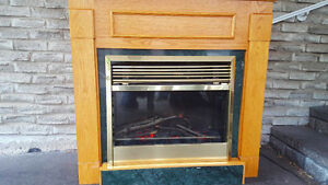 Dimplex Electric Fireplace with Oak Mantle