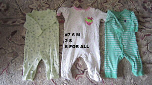 Baby girl clothes 3 to 6 months. Sleepers. London Ontario image 2