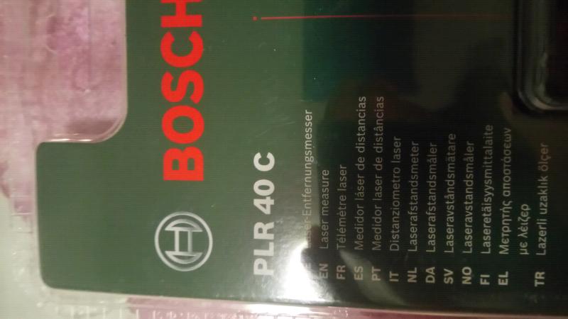 Bosch plr c laser entfernungsmesser
