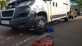 Mobile break pad and disc changing repair service.