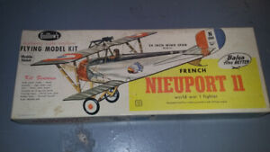 Vintage WWII Balsa Wood Airplane Model Kit Nieuport II