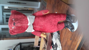 ANTIQUE ELECTRIC EYE RED TEDDY BEAR CIRCA 1907