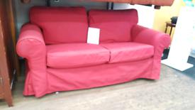 Ikea 2 seater red sofa