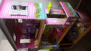 Wooden Doll House - Excellent Condition