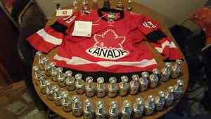 Signed team Canada Gretzky jersey and cup collection.